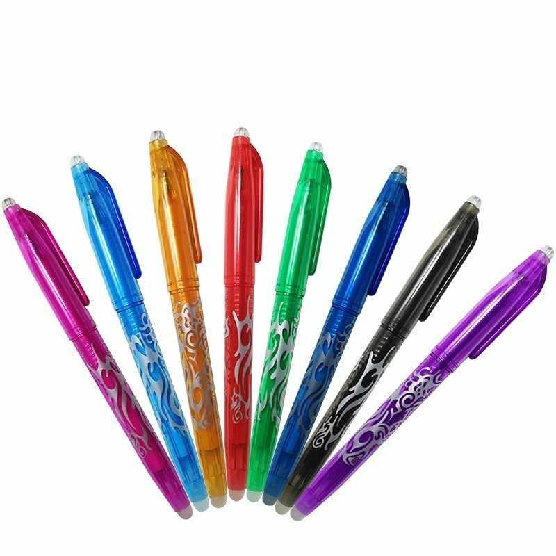 8 цветов на выбор 0,5 мм стираемая ручка Волшебная пишущая нейтральная ручка гелевая ручка
