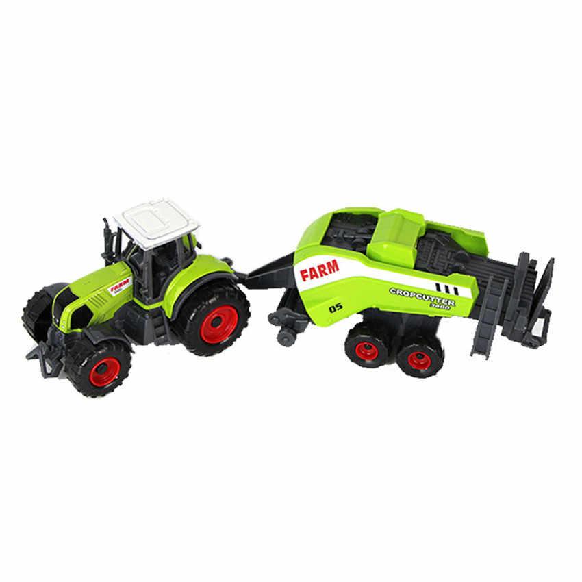 1:32 ABS Model mainan Mobil Petani Gandum Gandum Pemanen Pertanian Traktor Loader Modul Mobil Mainan Pendidikan untuk Anak-anak