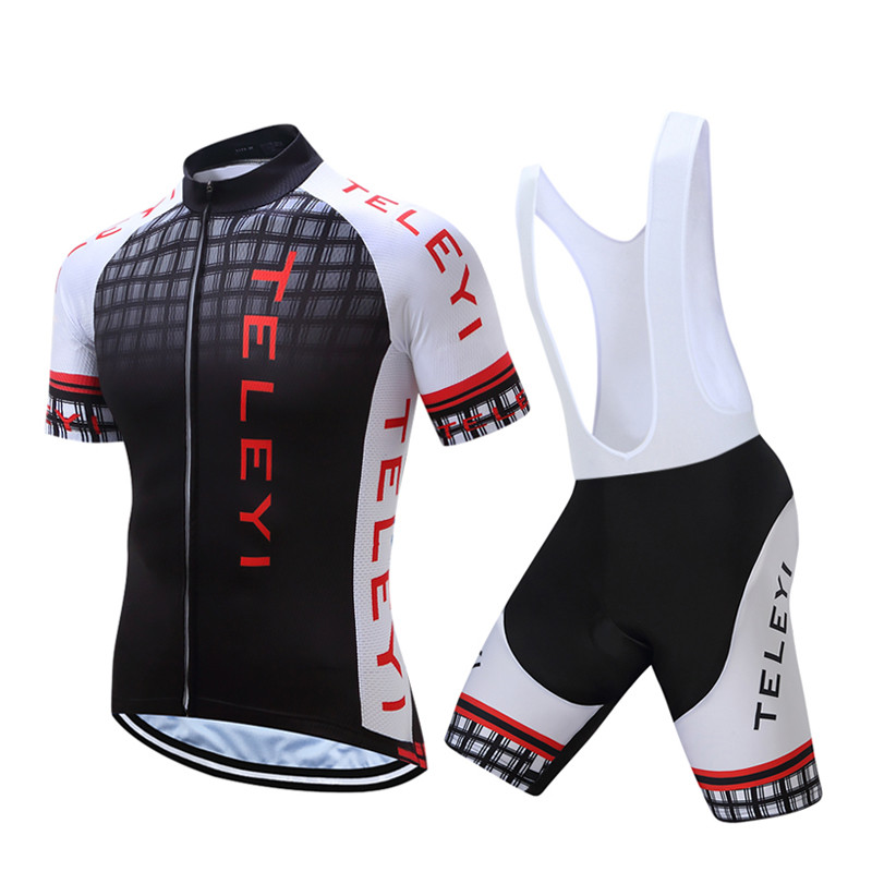 Teleyi Summer 2017 Men's Cycling Jersey Mountain Bike Jersey Ropa Ciclismo Quick Dry Cycling Clothing Breathable Bicycle Clothes summer sports cycling clothes men s cycling jersey sets breathable quick dry mountain bike sports wear for spring women new