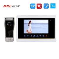 Free Shipping 1 0MP 720P AHD HD Motion Detection 7 Video Intercom Door Phone Unlock System