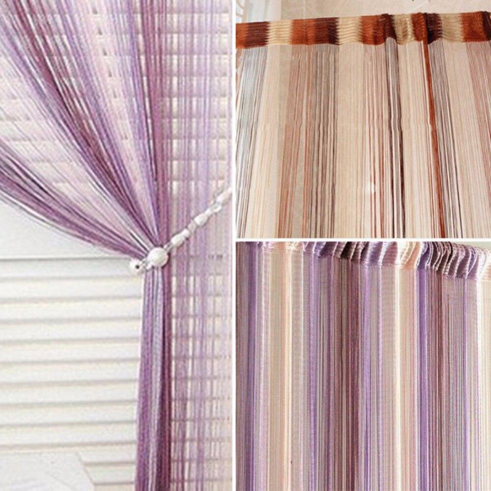 Colorful Line String Window Curtain Tassel Door Room Divider Scarf Valance Best Selling