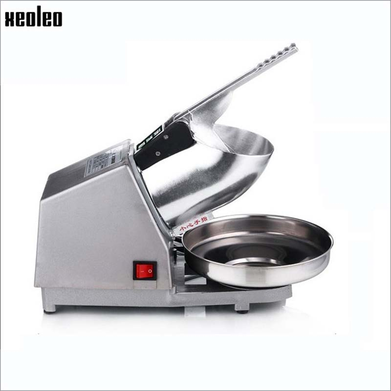 Xeoleo Commercial Ice crusher 200W Semi-Automatic Ice shavers Electric Ice Planer 220V 65kg/hr