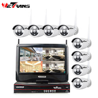 Surveillance System HD 1080P 8CH Home Security Camera Outdoor Wireless H 264 One Piece Display Wifi