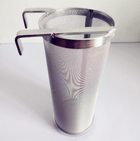 Stainless Beer Hopper Filter Keg Dry Hoping Home Brew 350x150mm 400 Micron Mesh Homebrew Home Brew