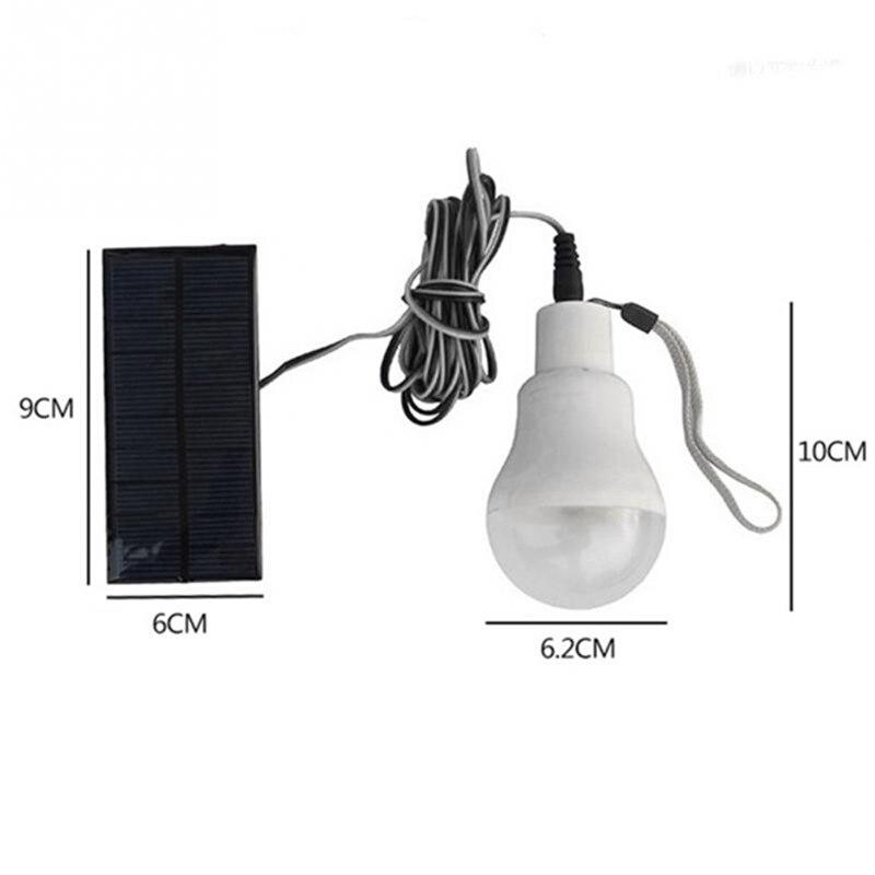 Mising DC1.2V 3W Solar Powered LED Lamp Outdoor Garden Lighting Bulb With Solar Panel Camping Light Bulb