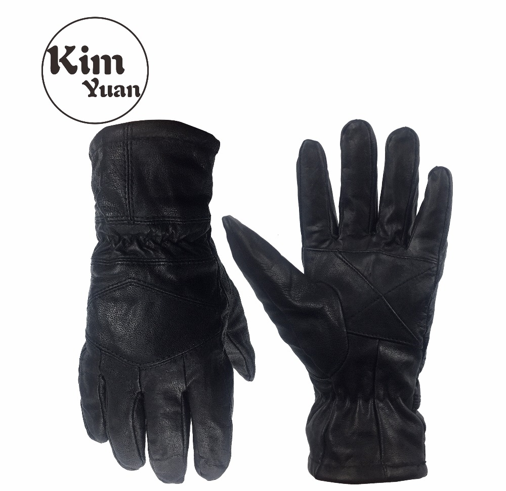 KIM YUAN 024 Goat Skin Motorcycle/Outdoor and Garden Winter Warm Windproof Black Protective Gloves Men & Women Free Shipping usagi yojimbo book 5 lone goat and kid
