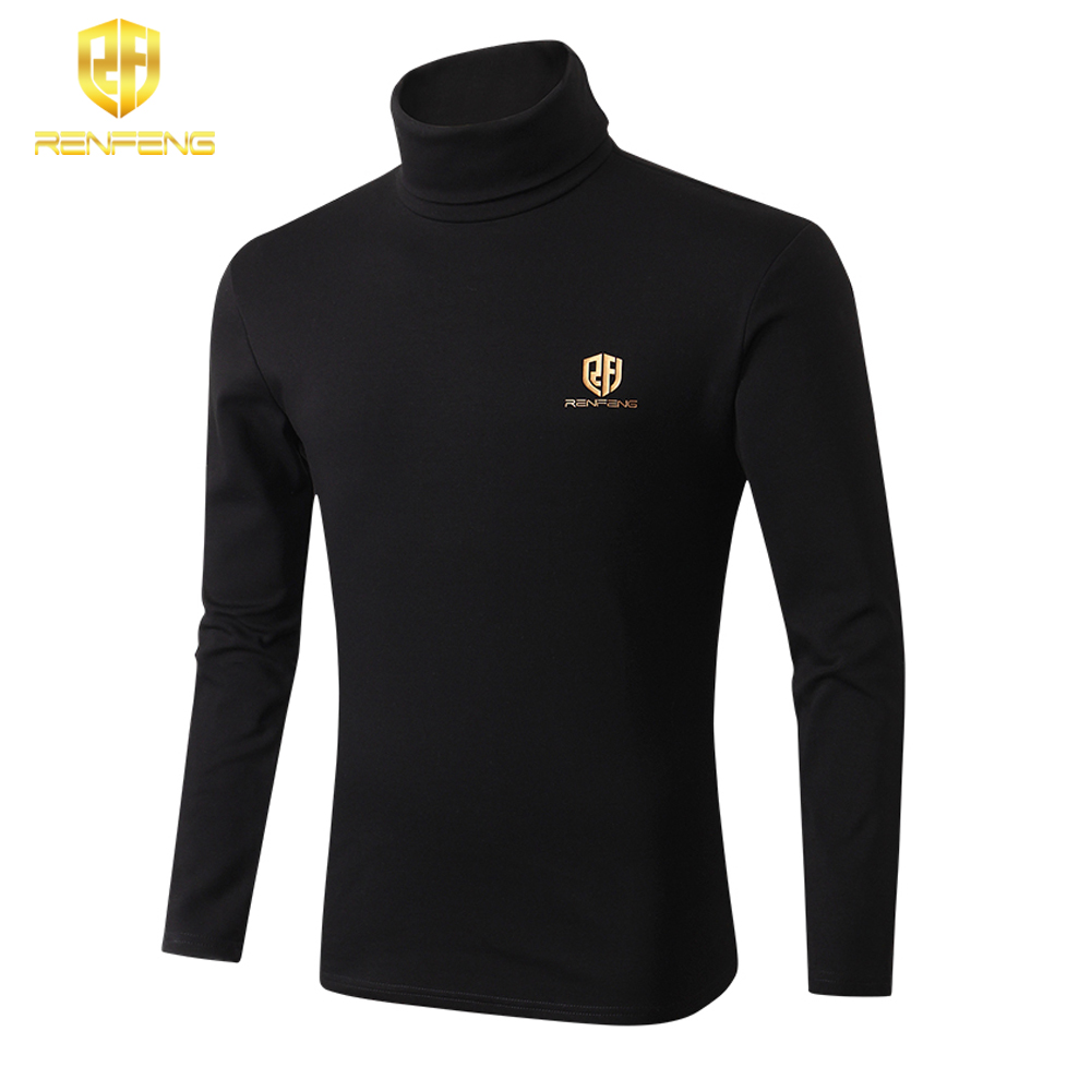 winter underwear for mens undershirts 95% cotton long sleeve brand t shirts turtleneck Warm shirt renfeng logo thermo shirt mens (2)