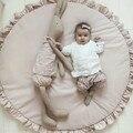 Мягкие игровые коврики для новорожденных, мягкий хлопковый коврик для ползания, игровые коврики для девочек, Круглый напольный ковер для де...