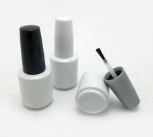 300x15ml ריק לבן זכוכית לק בקבוק עם לבן שחור כובע 1/2oz זכוכית קוסמטי מיכל אריזה