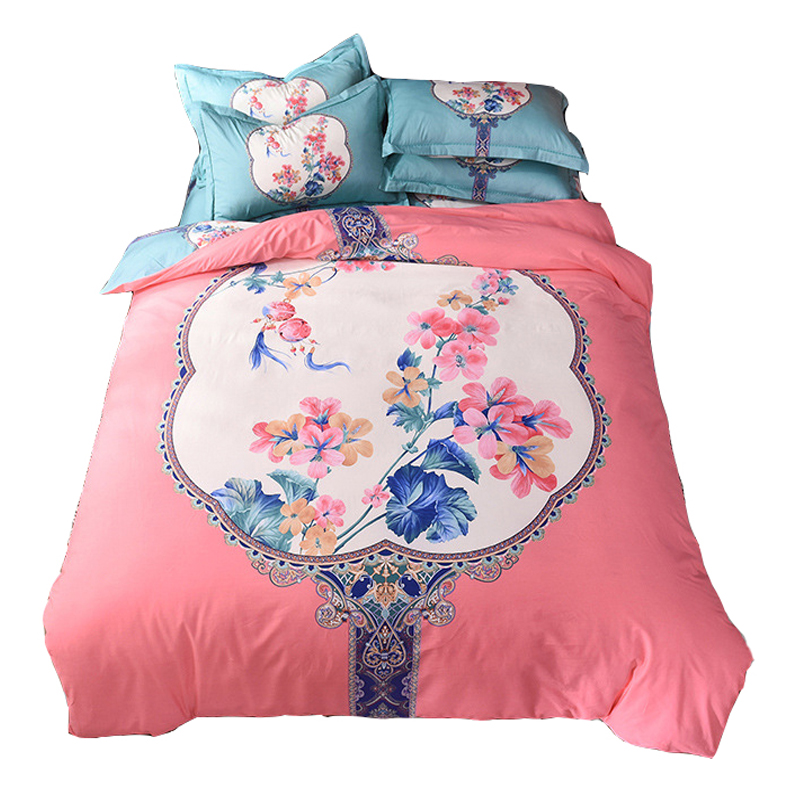 China Style Floral Pattern Bedding Sets 100% Cotton Bedlinens Bedcloth Queen King Size Duvet Cover Bed Sheet Pillowcase SetChina Style Floral Pattern Bedding Sets 100% Cotton Bedlinens Bedcloth Queen King Size Duvet Cover Bed Sheet Pillowcase Set