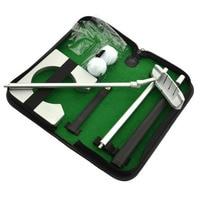 PGM Golf Training Aids Golf Putting Prática Conjunto Kit Portátil viagem Interior Golfs Bola Titular Putter Ferramenta De Auxílio À Formação Com caso