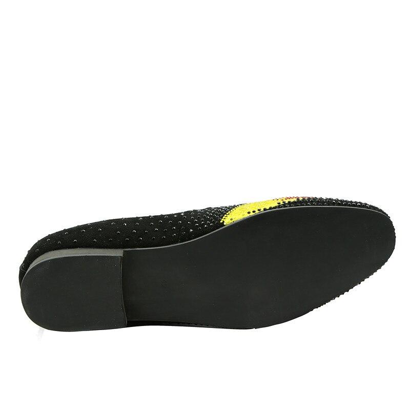 Mocasines Impresión Zapatos Pisos Mano Qianruiti Rojo Strass De Rhinestone on surtidos Lujo Hombres Slipper A Eu39 Slip eu46 Hecho Flor ZW0w6wtxXq