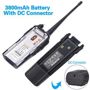 Image 3 - BaoFeng Walkie Talkie UV 82 5w bateria 3800mah 10 cinco quilômetros Nos Dois sentidos cb ham rádio portátil poderoso handheld Dual PTT uv82 Rádio caça