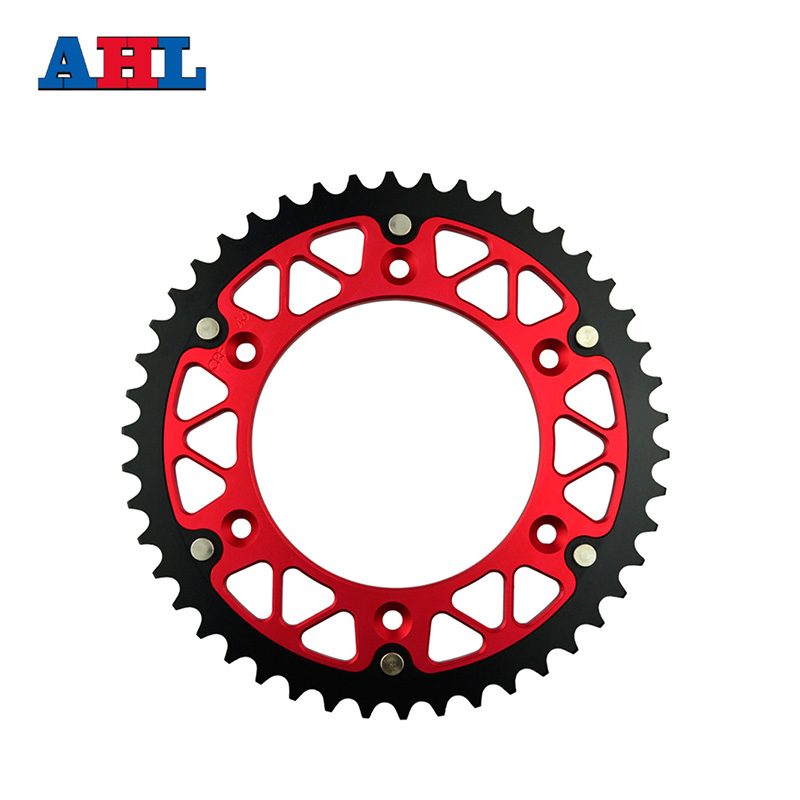 Motorcycle Parts Steel Aluminium Composite 46T Rear Sprocket For HONDA CRF250R CRF 250R CRF250 CRF 250 R 2004-2014 Fit 520 Chain new hot 2014 2015 two sides new aluminum radiator for honda crf 250 r crf250r crf250 brand motorcycle both of side of oem parts