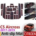 Анти-Slip ворота Слот резиновый коврик подставка под чашку для Citroen C5 Aircross 2017 2018 2019 C5-Aircross аксессуары наклейки