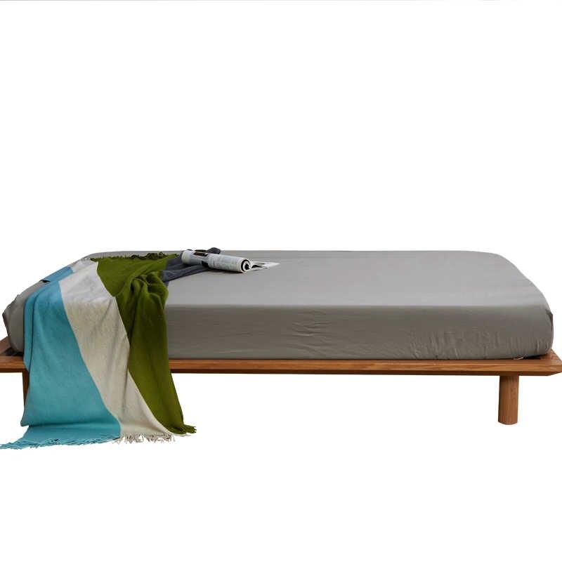 1 шт. однотонное покрывало для кожи, хлопковое покрывало для кровати, нескользящее покрытие с покрывалом на резинке, защитный чехол для матраса для дома/отелей