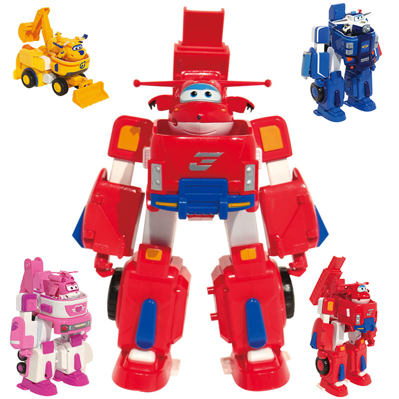 2018 Newest Big Deformation Armor Super wings Rescue Robot Action Figures Super Wing Transformation Fire Engines Toys 8pcs set auldey super wings mini airplane abs robot toys action figures super wing transformation jet cartoon children kids gift