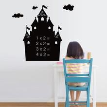 Castle Blackboard Stickers Removable Vinyl Draw Decor Mural Decals Art Chalkboard Wall Sticker For Kids Room Decoration chalk board blackboard stickers removable vinyl draw decor mural decals art chalkboard 200 x 45cm 5 chalks diy