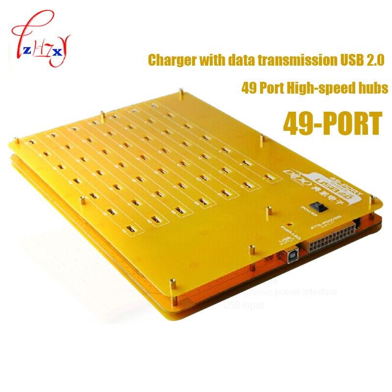 Hub/chargeur haute vitesse à 49 ports de qualité industrielle avec transmission de données USB 2.0 pour Windows/Mac OS/Linux/téléphone 1 pc