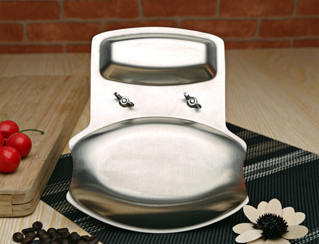 Stainless Steel Pot Lid Shelf and Spoon Holder Rack Stand