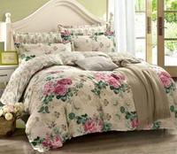T. [] China twill spring four pieces of cotton bed quilt wedding suite 1.8m FREE SHIPPING