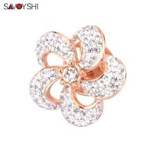 SAVOYSHI High-grade Flower Brooch Art Classic Camellia Broche Pins & Brooches Women Clothes Shawl Shirt Collar Accessories