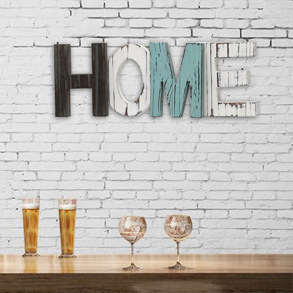 Nordic Decoration Home Rustic Wood HOME Letters Decorative