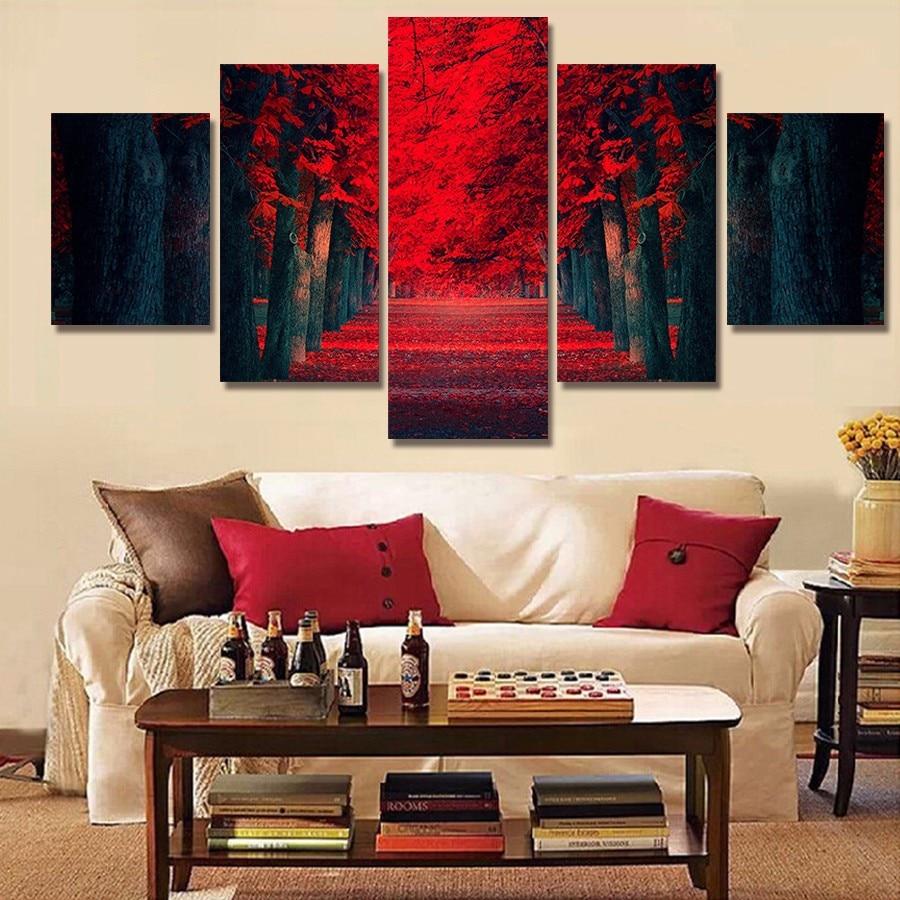 Moderna Pintura Abstrata Da Lona Do Leo Da Parede Da Sala De Arte  -> Quadro De Parede Para Sala Abstrato