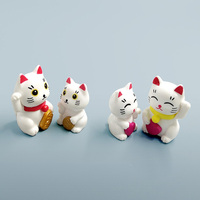 Lovely Cute Cartoon Lucky Cats Micro Landscape Kitten Microlandschaft Pot Culture Tools decorative Garden Decorations Miniatures