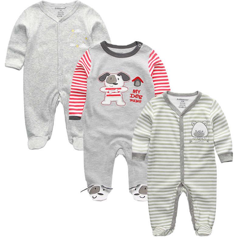 костюм на новый год для детейЖивотных детские комбинезоны Для мальчиков и девочек roupas из хлопка с длинным рукавом Детский костюм  новорожденных 2018 новые детские Костюмы