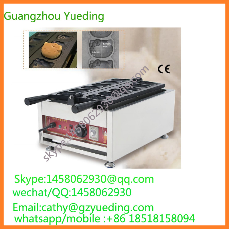 directly factory price Cartoon cat waffle maker machine for sale directly factory price commercial electric double head egg waffle maker for round waffle and rectangle waffle