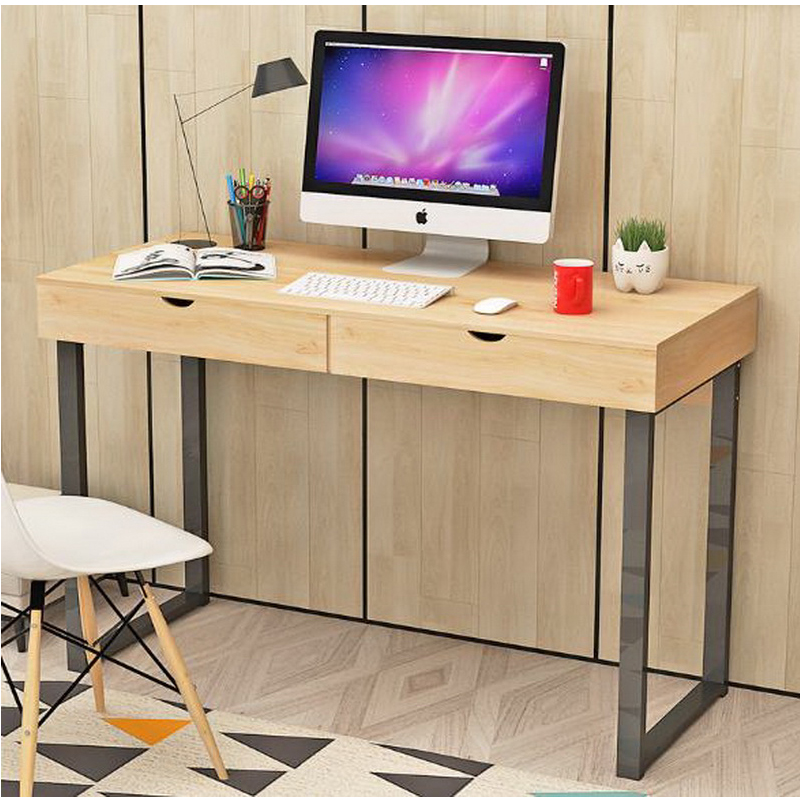 250613/Desktop computer desk / home modern desk / simple table / laptop table/Spacious key design/Stable steel frame 250616 computer desk and desk style modern simple desk with bookcase desk simple table solder edge e1 grade sheet material