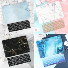 Nowy marmurowy pokrowiec na Macbook Air Pro Retina 11 12 13.3 nowy Macbook 13 15 Touch Bar 2020 A2289 A2251 A1932 A2179 + pokrywa klawiatury