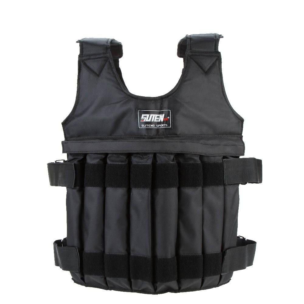20kg Loading Weighted Vest Exercise For Boxing Training Equipment Fitness Jacket Adjustable Exercise Waistcoat Sand Clothing