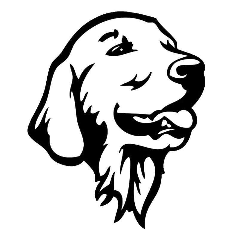 Cm golden retriever dog car bumper stickers cute