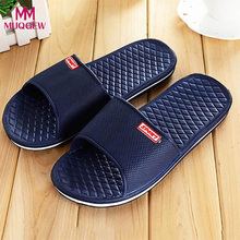 272a33262234 Unisex Shoes Men Slippers Home Living Room Solid Flat Bath Slippers Summer  Sandals Indoor   Outdoor