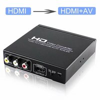 HDMI TO CVBS AV/HDMI AUTO SCALER Support NTSC PAL Two TV Format RCA 1080P For STB DVD PS2 PS3 PSP Support NTSC PAL HDMI1.3