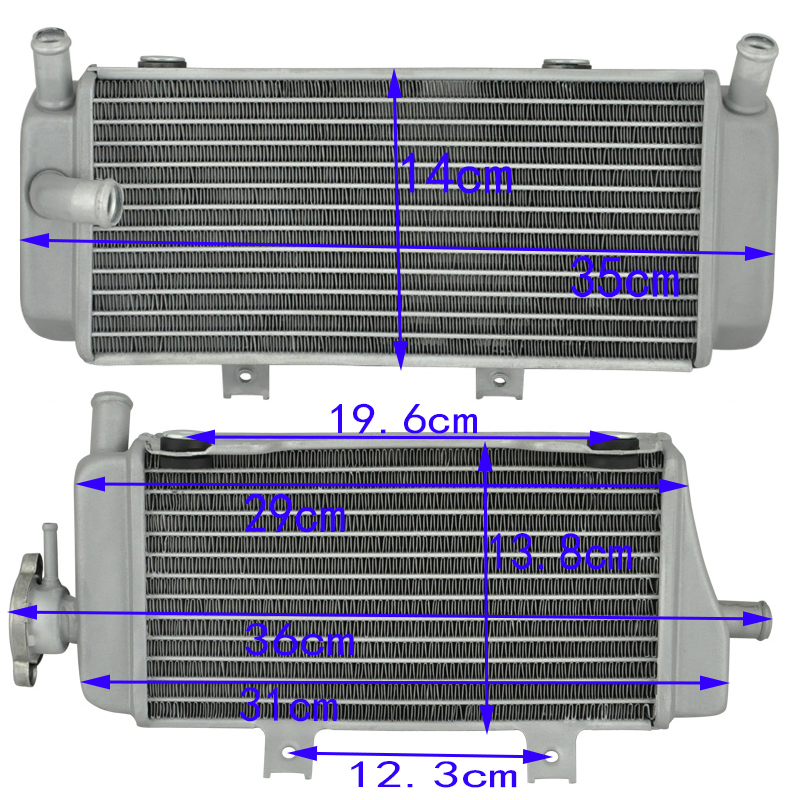 LOPOR Motorcycle Aluminium Cooling Radiator For Honda CRF450X 2005 2016 2006 2007 2008 2009 2010 CRF450