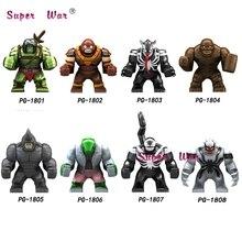 Único Grande Tamanho Infinito Guerra Super Herói Avengers Hulk Clayface Juggernaut Anti-Veneno Venom Wolverine Figura Blocos de Construção de Brinquedos