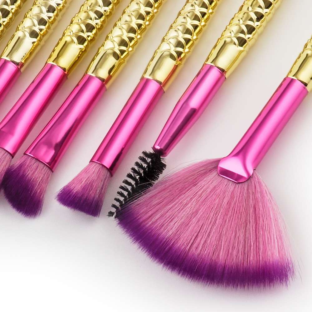 15PCS Mermaid Brush Set b base brush travling makeup Foundation Eyeshadow Brushes Makeup Brushes Beauty