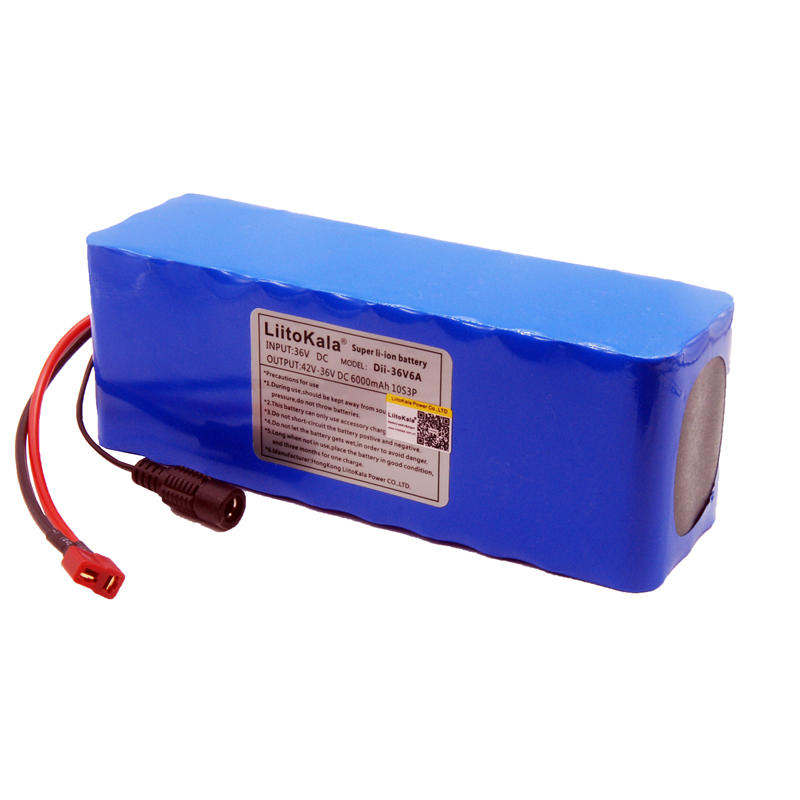 LiitoKala 36V 6ah 500W 18650 lithium battery 36V 8AH Electric bike battery with PVC case for electric bicycle hot sale bottom discharge electric bike 36v 8ah li ion battery 36v 8ah electric bicycle silver fish battery with charger bms