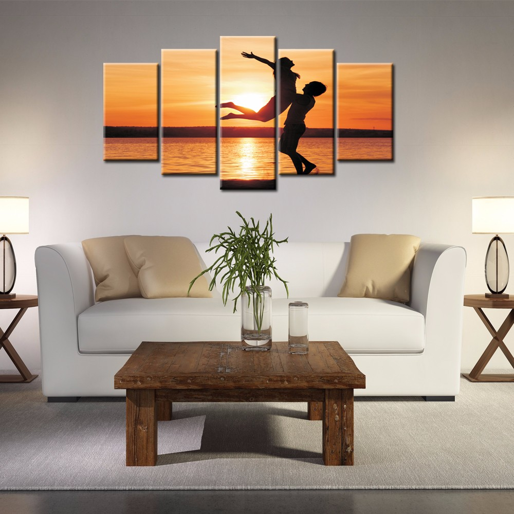 ARTRYST 5 Pieces Modern Wall Art Canvas Printed Painting Decorative Picture for Home Decor Art Canvas
