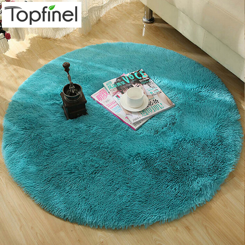 Top Finel Hot High Quality Floor Mats Modern Shaggy Round Rugs And Carpets  For Living Room
