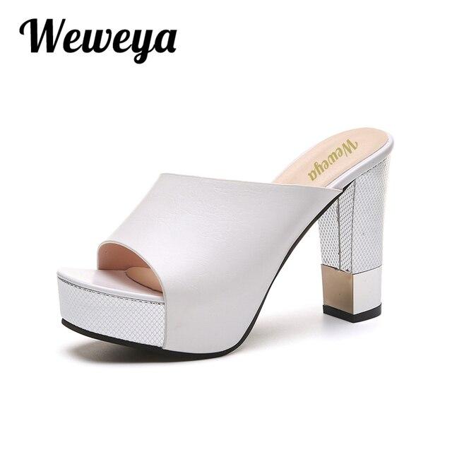 Sandales femmes nouvelle mode sexy plate-forme talons hauts coins nDJXC8AT