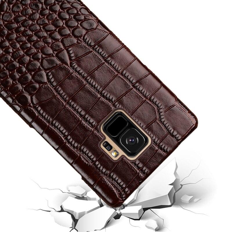 Купить с кэшбэком For Samsung Galaxy S8 S8plus S9 S10 Note 8 9 Thermal capa cover LANGSIDI Genuine Leather Original Shockproof Coque phone case
