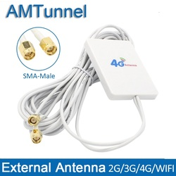 4g LTE Antenna 3G 4G Router Antenna Panel antenna with SMA TS9 CRC9 Connector 3m cable for Huawei 3G 4G LTE Router USB Modem