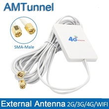 4g LTE Антенна 3g 4G маршрутизатор Антенна панель Антенна с SMA TS9 CRC9 разъем 3 м кабель для huawei 3g 4G LTE маршрутизатор USB модем