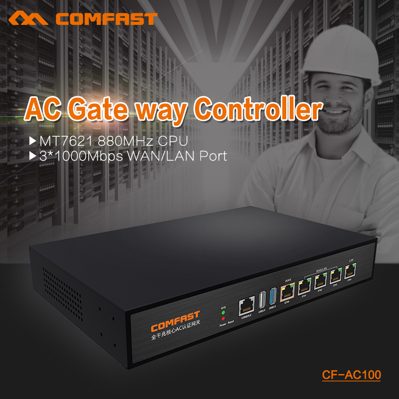 New GBE AC gate way controller MT7621 880Mhz Core Gigabit Gate way wifi project manager with