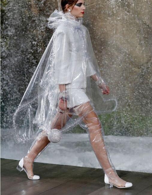 Mode Follwwith Chaude Sans Rainboots Pic Bas Conception Femmes As Marque Lacets Bottes Transparent Pic Épais Pvc Femme gris as De Chaussures Sac 2019 Talons 8q0d8