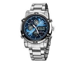 2016 ASJ Top Fashion Relojes Hombres Marca de Lujo del Cuarzo de Los Hombres hora Analógica Reloj Hombre Militar Del Ejército Del Deporte LED Digital de Muñeca relojes